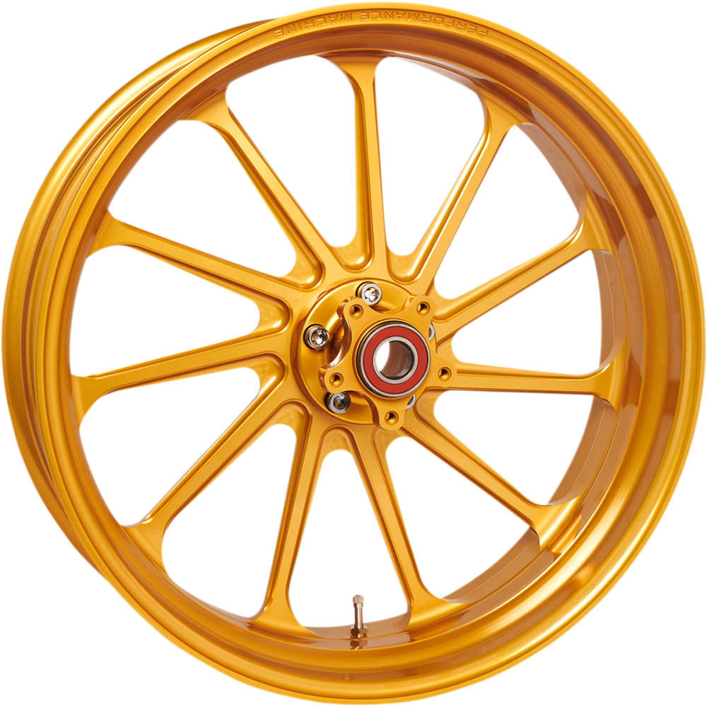 Performance Machine Wheel - Assault - Gold - Rear - 18 X 5.5