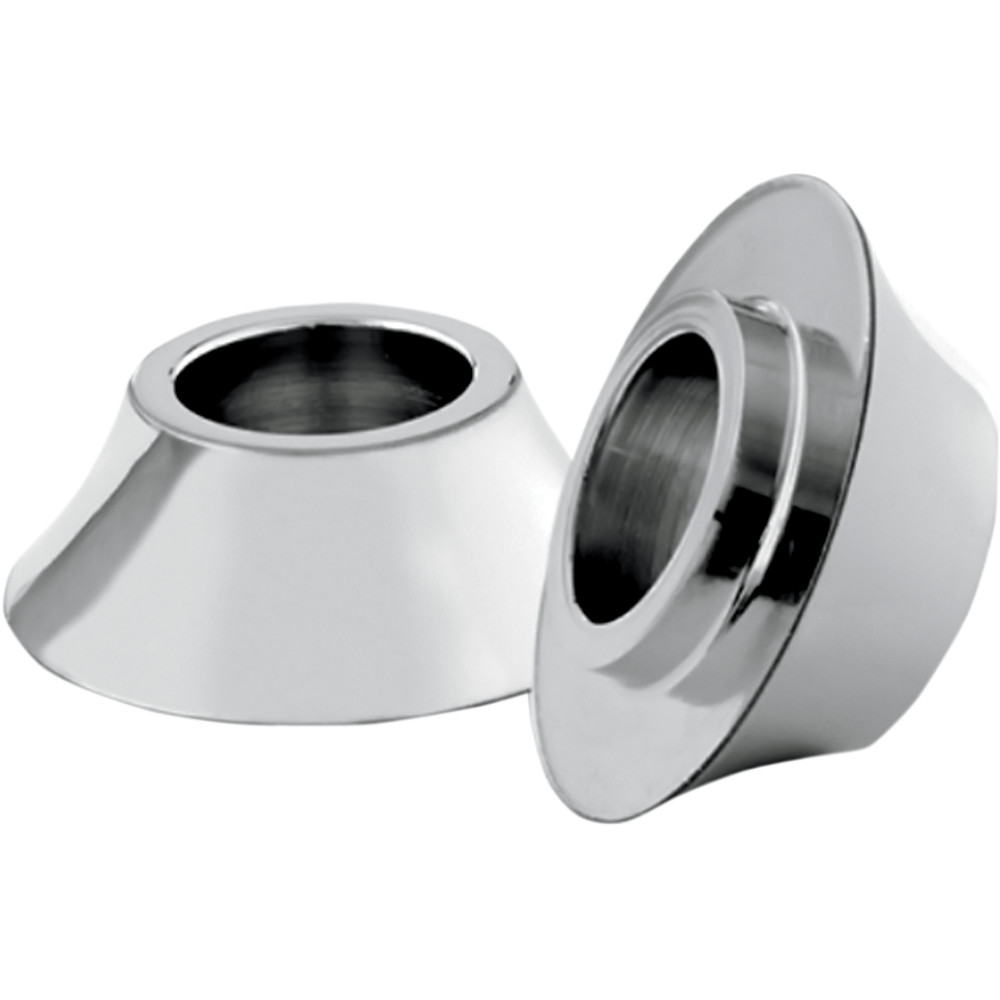 RC Components Wheel Spacers - Front - Chrome - 00-07 FLH