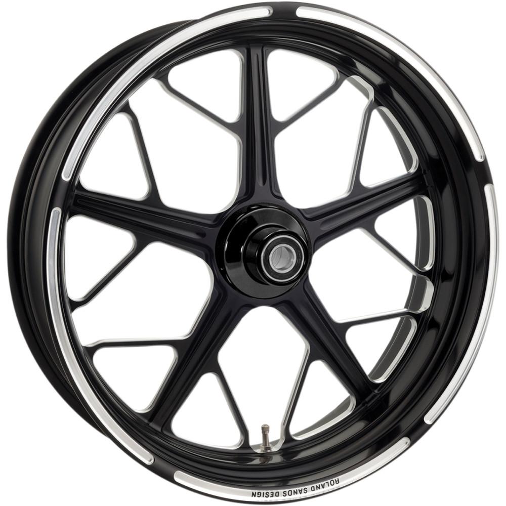 Roland Sands Design Rear Wheel - Hutch - Contrast Cut - 18 x 5.5 - With ABS - 09+ FL