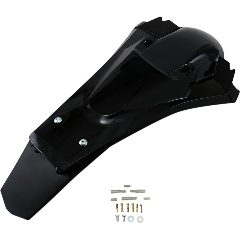 UFO Enduro Rear Fender - W/Light - Black