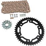 Vortex Steel Chain Kit - Gold - Honda - CBR 600RR - '03-'06