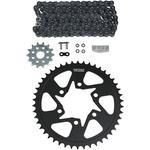 Vortex Steel Chain Kit - Black - Kawasaki - 650 Versys - '07-'17/650 Ninja - '13-'17/Z 650 - '17