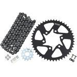 Vortex Steel Chain Kit - Black - Kawasaki - 650 Versys LT - '16-'17