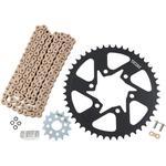 Vortex Steel Chain Kit - Gold - Kawasaki - 650 Versys LT - '16-'17
