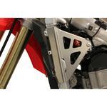 Works Connection Radiator Brace - Silver - Honda