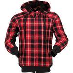 Z1R Lumberjill Hoodie Shirt (Red / Black)